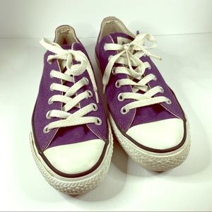 Converse All Star purple/white tennies Size 7
